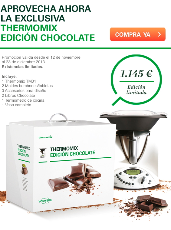 Aprovecha la exclusiva Thermomix® Edición Chocolate