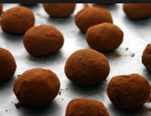Trufas envueltas en cacao