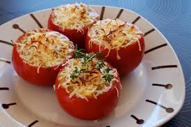 Tomates rellenos de carne picada