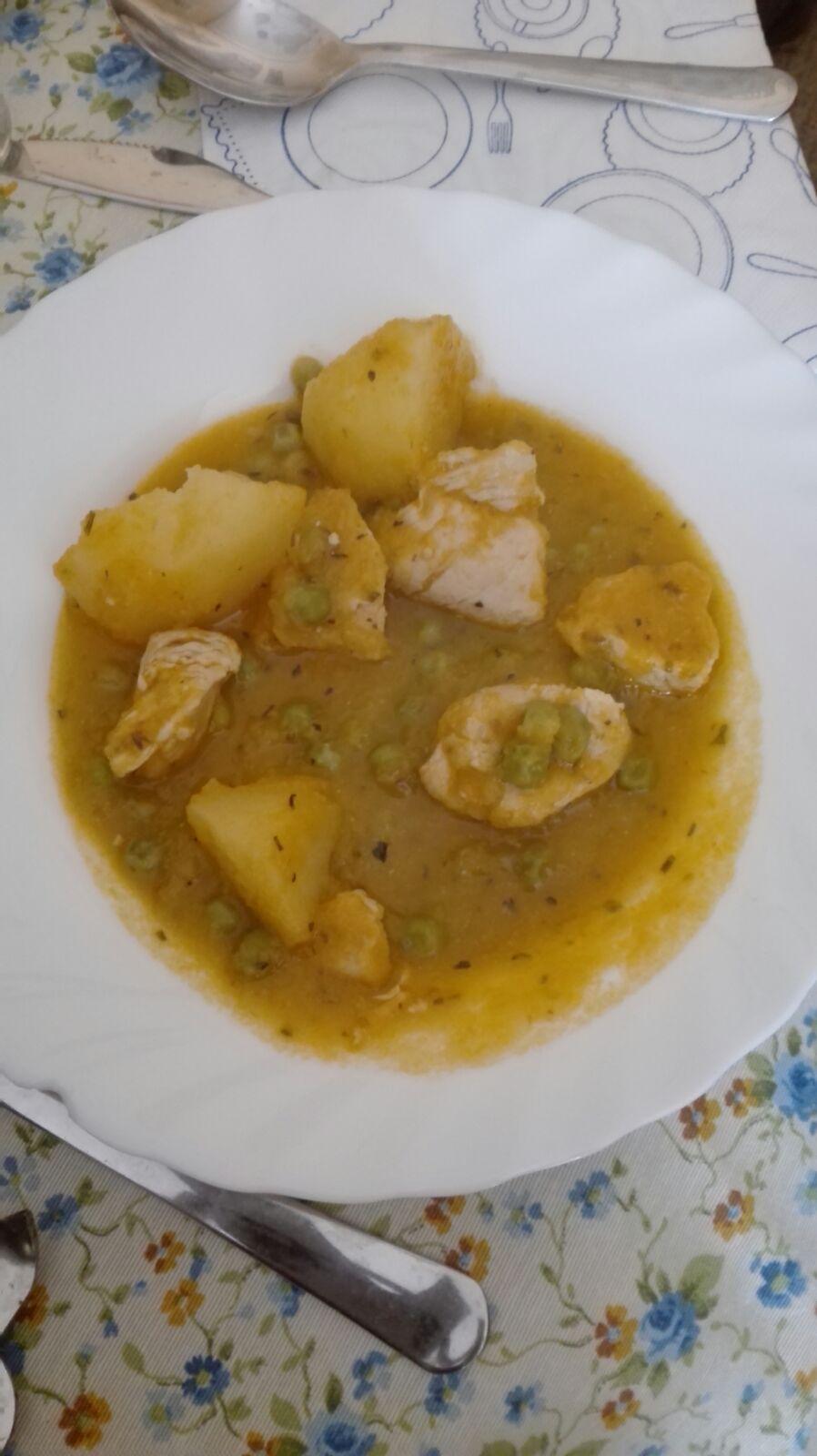 Pavo guisado con patatas en Thermomix®