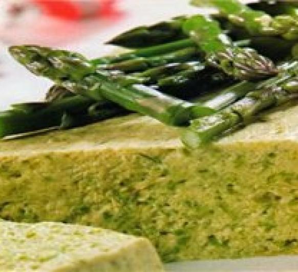 Pudding de espárragos verdes
