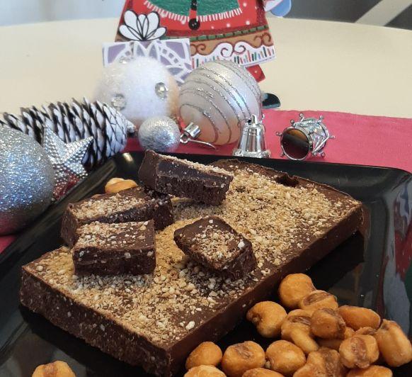 Turron de chocolate y kikos