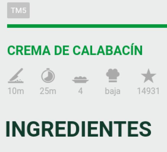 Crema de Calabacin (Favorito N°1)