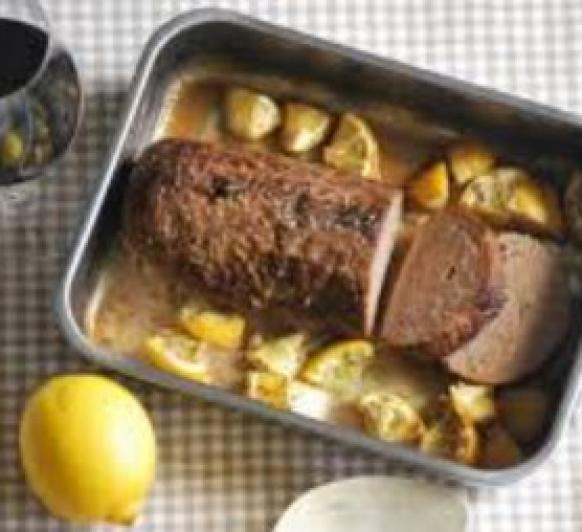 Polpettone de cerdo al limón