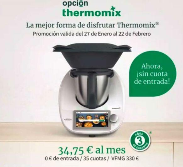 COMPRA TU Thermomix® TM6, PROMOCIÓN SIN ENTRADA Y CON UN AÑO ADICIONAL DE GARANTÍA