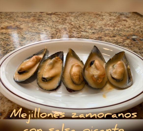 Mejillones Zamoranos con salsa picante