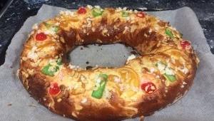 Roscón de Reyes con chocolate con Thermomix® , variante sin lactosa